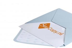 Geboortekaartje in envelop