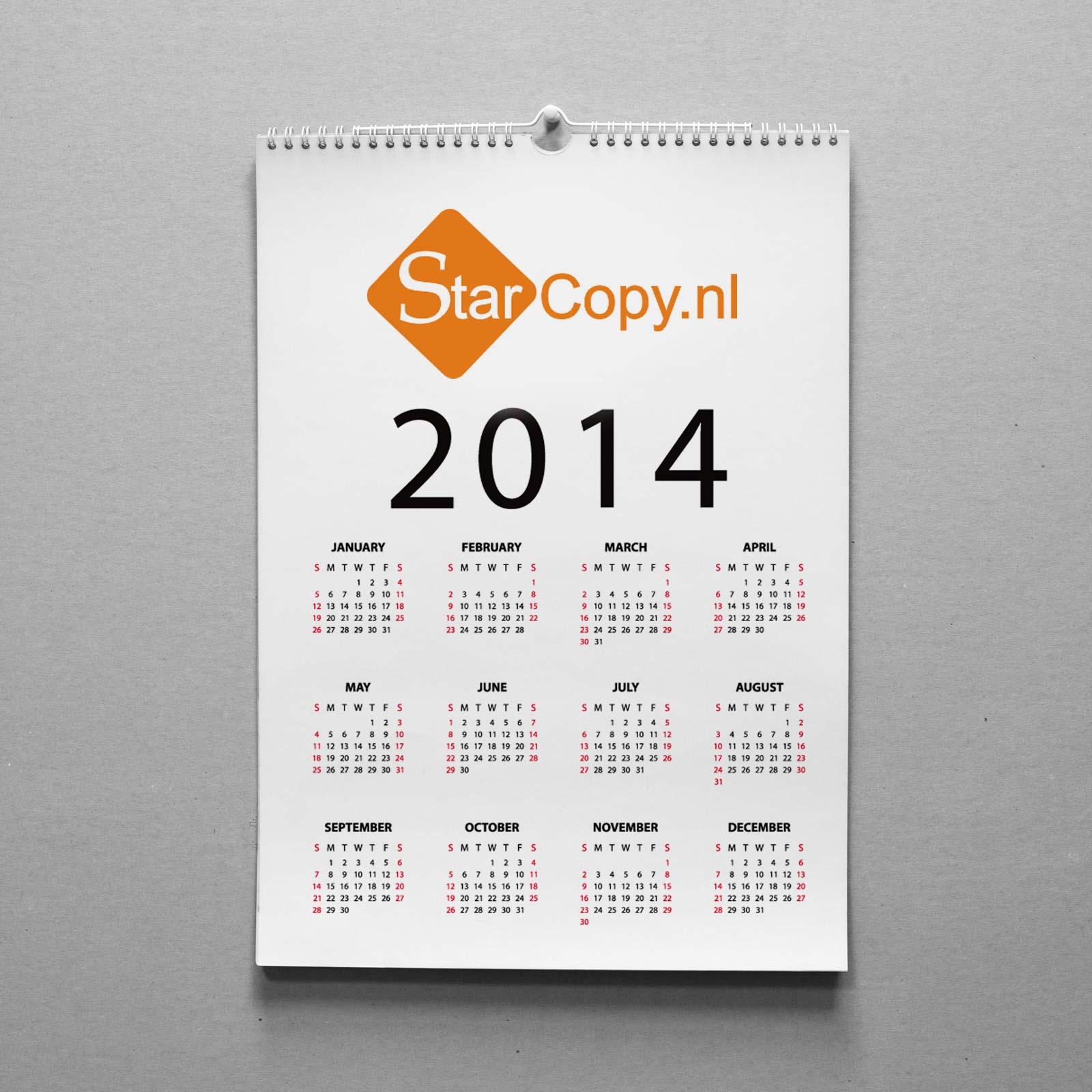 Favoriete Kalenders | Star Copy & Print QG82